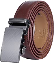 Marino Men's Genuine Leather Ratchet Dress Belt With Automatic Buckle, Enclosed in an..
