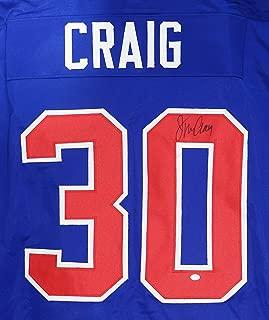 Jim Craig Team USA Signed Autographed Blue #30 Custom Jersey PAAS COA