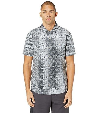 Toad&Co Fletch Print Short Sleeve Shirt (Light Ash Arrow Print) Men