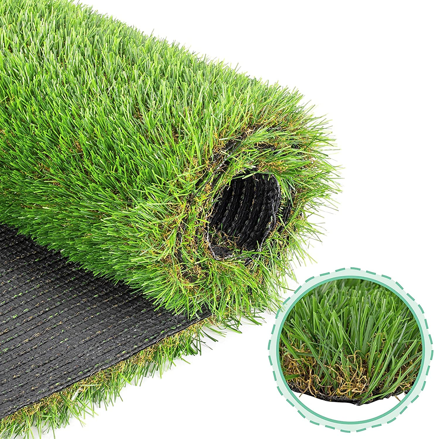 hygger Artificial Grass Turf, 4FT X 7FT(28 Square FT), Realistic Synthetic Artficial Turf Rug for Dogs, Indoor/Outdoor Garden Lawn Patio Balcony Grass Mat