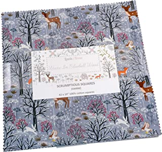 Winter in Bluebell Wood Scrumptious Squares 42 10-inch Squares Layer Cake Lewis & Irene
