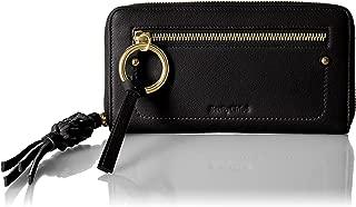 See by Chloe Zip-Around Leather Wallet w/Braided Tassel