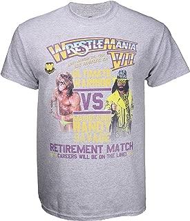 WWE Ultimate Warrior vs Macho Man Wrestlemania 7 Poster Shirt - Grey - X-Large