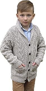Aran Crafts Boys Shawl Cardigan (100% Merino Wool)