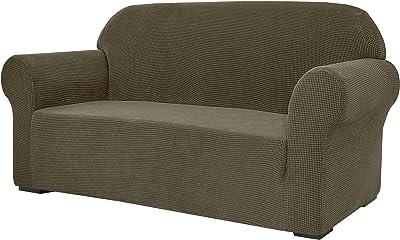 Subrtex - Funda elástica para sofá (1 Unidad) para sillón, sillón de salón, Suave, Lavable, Funda de sofá para niños y Perros (sofá, Verde Oliva)