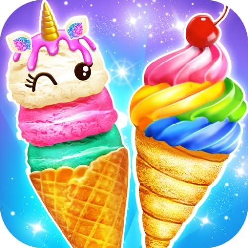 Rainbow Cone Dessert Maker - Glitter Ice Cream Cone Desserts