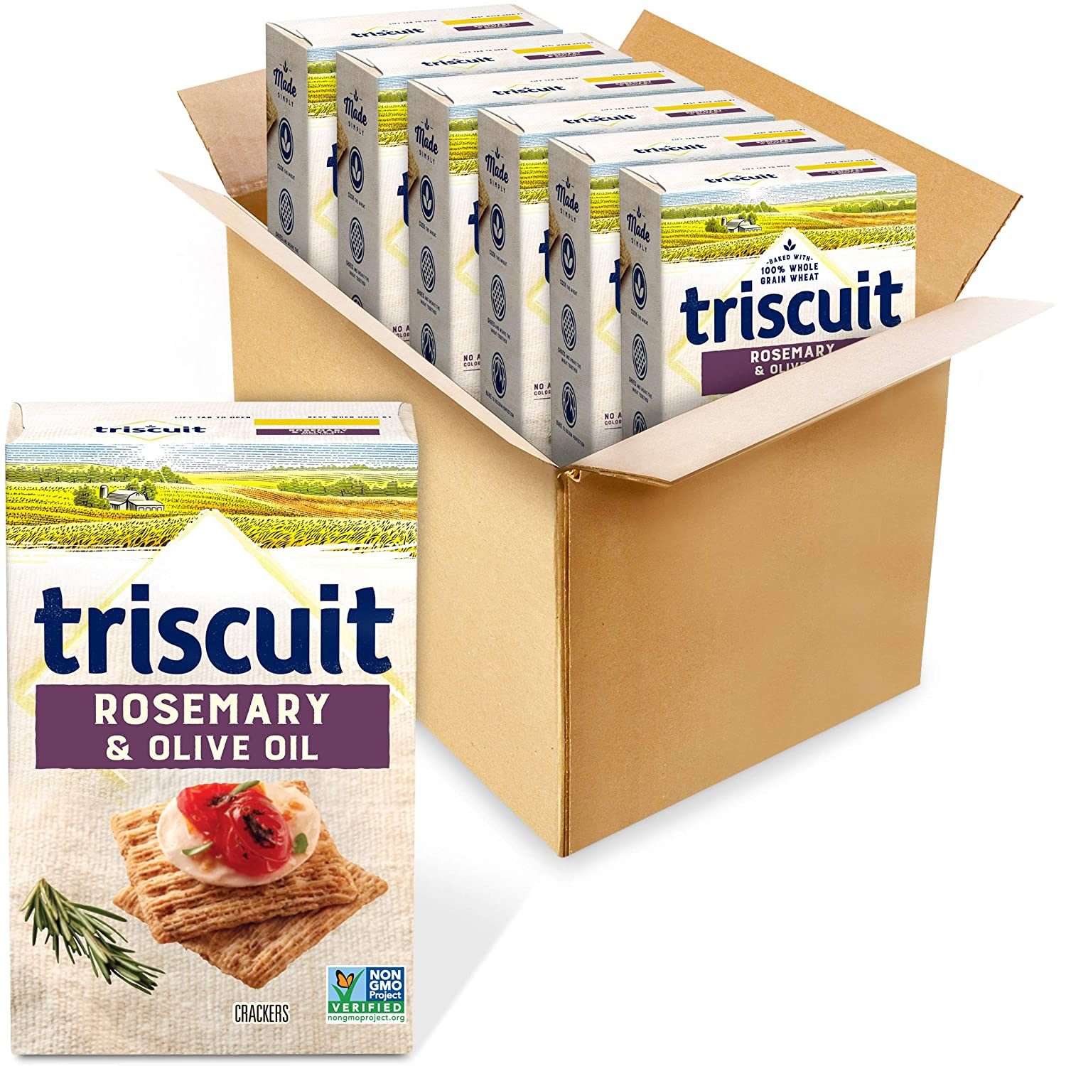 Triscuit Whole Ranking TOP17 Grain Wheat Crackers Rosemary 55% OFF Oz Olive 51 Oil