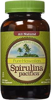 Nutrex Hawaii Pure Hawaiian Spirulina Pacifica - 500 mg - 400 Tablets (Pack of 2)