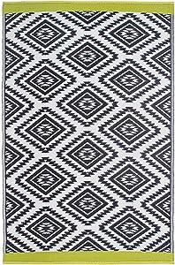 Fab Hab Valencia - Tappeto da pavimento, reversibile, per interno/esterno, resistente alle intemperie, colore: grigio, plastica, grigio, 150 cm x 240 cm