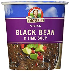 Dr. McDougall's Vegan Black Bean & Lime Soup, 3.4 oz