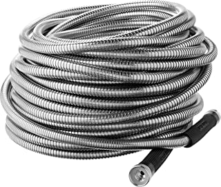 Bionic Steel 304 Stainless Steel Metal Garden Hose - Lightweight, Kink-Free, and Stronger Than Ever, Durable and Easy to Use