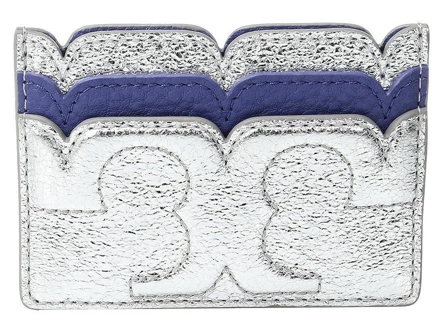 ブレイズ仲間方程式[トリーバーチ] Tory Burch レディース Scallop-T Metallic Card Case ウォレット Marlin/Silver [並行輸入品]