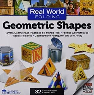 Learning Resources LER4356 Real World Folding Geometric Shapes (Pack of 16)