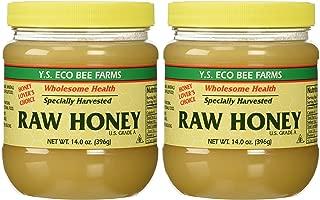 YS Organic Bee Farms Honey (Raw) 14 oz. Pack of 2