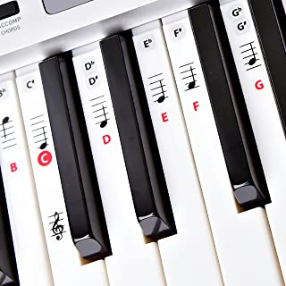 Best Adhesive Piano Key and Note Keyboard Stickers for Adult