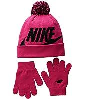 Nike Kids - Swoosh Pom Beanie Gloves Set (Little Kids/Big Kids)