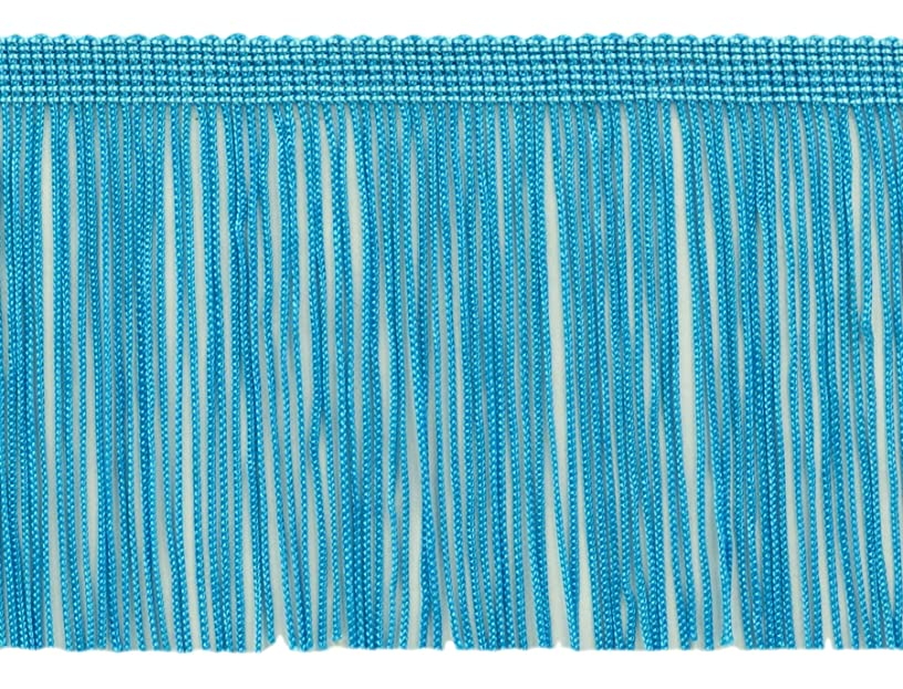 DecoPro 11 Yard Value Pack of 4 Inch Long Chainette Fringe Trim, Style# CF04 Color: Turquoise - 04 (32.5 Feet / 10M)