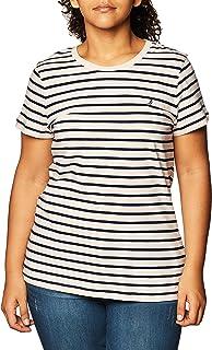 Nautica womens Nautica Women's Classic Fit Stripe T-Shirt T-Shirt