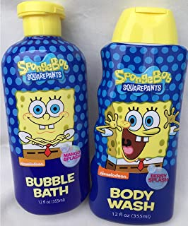 SpongeBob Squarepants Bubble Bath and Body Wash Set
