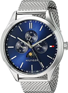 Tommy Hilfiger Men's Blue Dial Stainless Steel Band Watch - 1791302