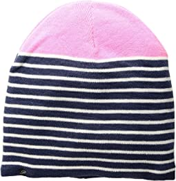 Plush - Fleece-Lined Striped Color Block Beanie