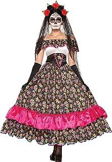 Forum Novelties Women 's día de Muertos español Lady Disfraz