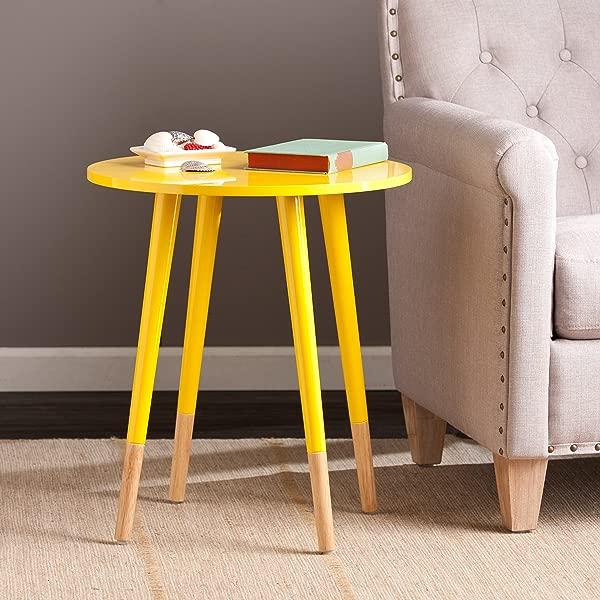 SEI Laney Round Table Glossy Yellow