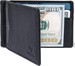 YBONNE New Slim Wallet with Money Clip Finest Genuine Leather RFID Blocking Minimalist Bifold for Men