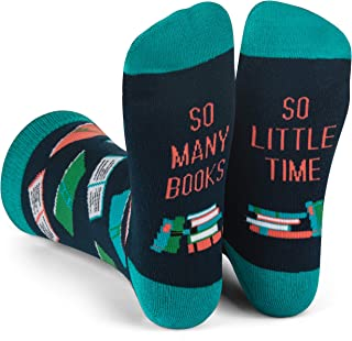 Lavley Nerd Socks - Cool Socks for Men and Women - Funny Gift for Geeks (Books, Math, Science)