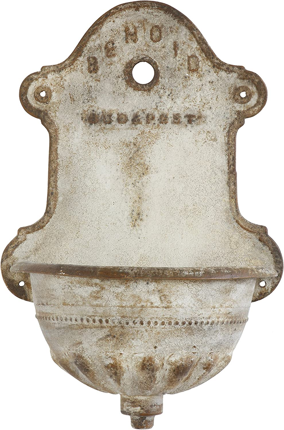 Creative Co-op Reproduction of Vintage Iron Wall Water Fountain