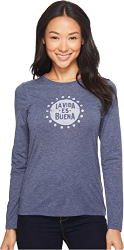 La Vida Es Buena Long Sleeve Cool Tee