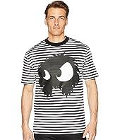 McQ - Striped Monster Dropped Shoulder T-Shirt