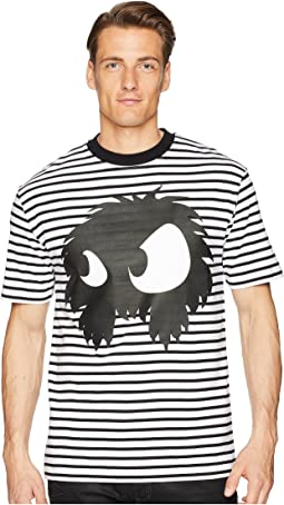 Striped Monster Dropped Shoulder T-Shirt
