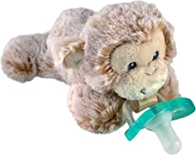 RaZbaby RaZ-Buddy JollyPop Pacifier Holder/Pacifier Removable/JollyPop/Marlow Monkey