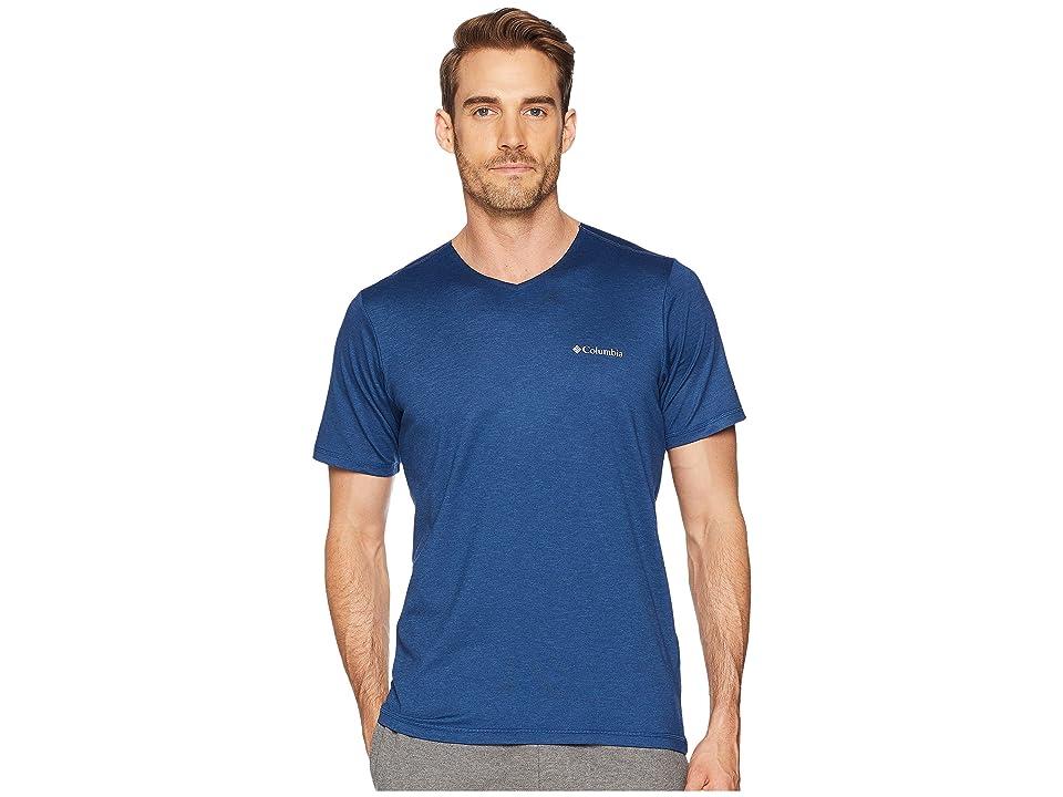 Columbia Tech Trail V-Neck Shirt (Carbon Spacedye) Men