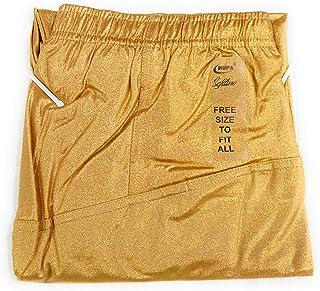 Rupa Women's Cotton 4D Material Softline Shimmer Churidar Legging (Golden, Free Size)