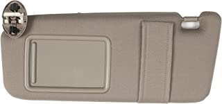 Ezzy Auto Beige Left Driver Side Sun Visor fit for Camry with Sunroof and Light 2007 2008 2009 2010 2011