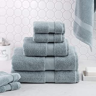 Luxus 100% Cotton 8 Piece Towel Set (Mist) - Supersoft - Highly Absorbent - Quick Dry - Hotel Spa Bathroom Towel Collection - 2 Bath Towels - 2 Hand Towels - 4 Wash Towels