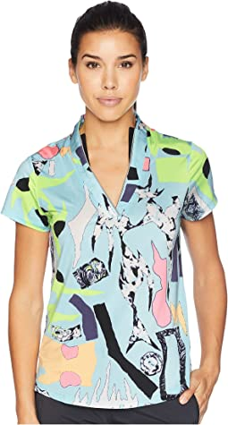 Cirque Print Short Sleeve Top