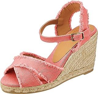 bd9fa00bc17 Amazon.co.uk: Red - Espadrilles / Women's Shoes: Shoes & Bags