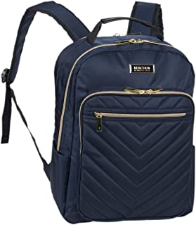 """Kenneth Cole REACTION Women's Chevron Quilted Polyester Twill 15.6"""" Laptop Backpack"""