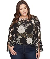 Lucky Brand Plus Size Ruffle Top