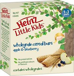 Heinz Little Kids Wholegrain Cereal Bars - Apple and Blueberry, 90g