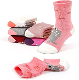Girls Winter Thick Cotton Socks Kids Warm Lovely Bear Socks 6 Pack