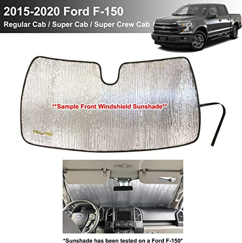 2021 YelloPro Custom Fit Front Windshield Sunshade for Ford F-150 F150-2015 2016 2017 2018 2019 2020 - Lariat, outlet sale King Ranch, Platinum, XL XLT Limited new arrival Raptor Shelby Baja Accessories [Made in USA] online
