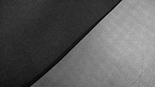2mm Mesh Skin Neoprene Fabric, Stretch Scuba Fabric, Aquatic Wetsuit Material by The Square Foot, Nylon One Side, Textured Rubber One Side, Marine Grade (Black, 1' x 2')