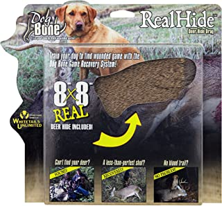 Dog Bone Game Recovery RealHide Deer Hide Drag