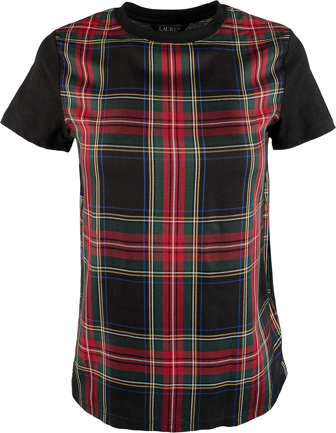 Lauren Ralph Lauren Women's Petite PlaidPanel Shirt