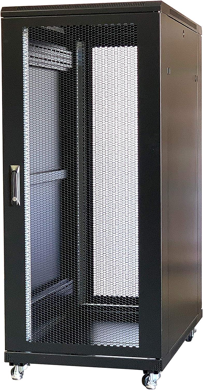 RAISING ELECTRONICS 27U Rack Mount Server Networks Data Rack Cabinet 36 inch (1000mm) Deep