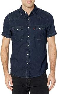 Men's Short Sleeve Button Up Classic Western Shirt